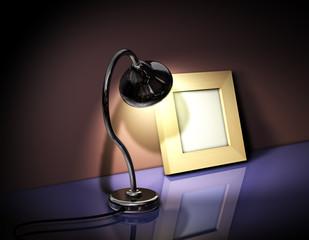 Rahmen Holz Lampe 2
