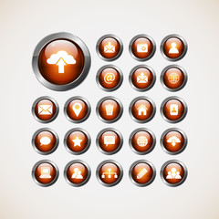 Set of web icons,buttons