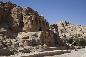 The city of Petra in Jordan