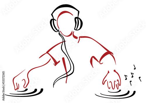 DJ behind console - 53372365