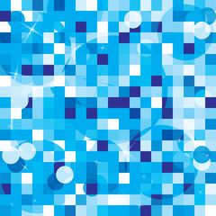 abstract 3d cubes backdrop in blue and white