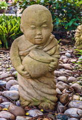 Funny traditional Thai garden sculpture