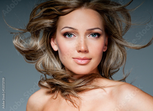 Luxury woman with perfect hair styling