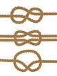 Nautical brown knots on white background, vector