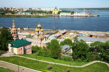 May view of colorful Nizhny Novgorod Russia