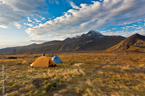 Camping on Kamchatka.