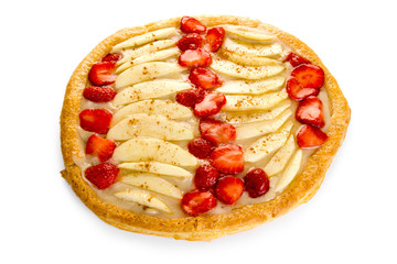 Strawberry and apple puff
