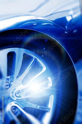 shiny car wheel