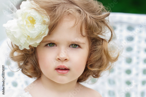 Portrait of a beautiful little girl