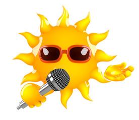 Sunshine sings some cheerful songs