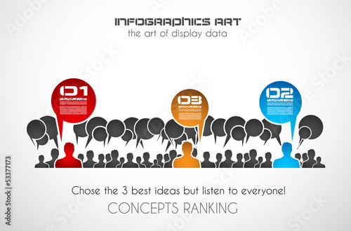 Infographics concept to display your data in a stylish way.