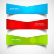 Three colorful headers  presentation vector white background