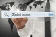 Global access written in search bar