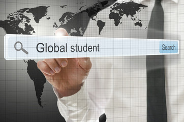 Global student written in search bar
