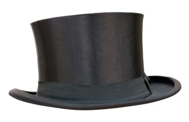 Retro top hat on white. Clipping path included.