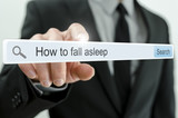 How to fall asleep written in search bar