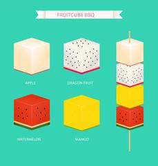 cube fruit bbq