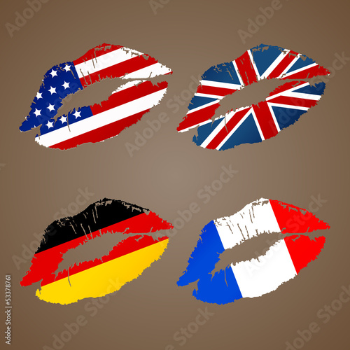 german french usa uk lips