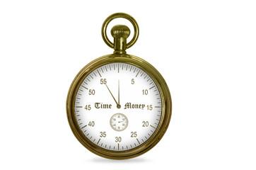 alte Stoppuhr - Zeit ist Geld