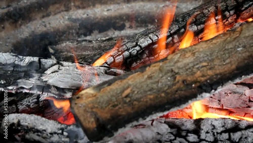 fire place - charcoal background