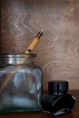 Feder und Tinte