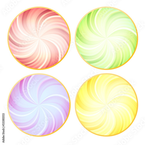 Ice cream from top vector background concept