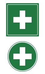 Schild Kreuz Erste Hilfe