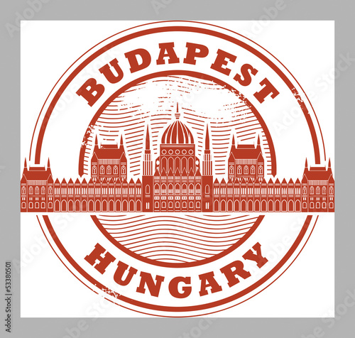 Grunge rubber stamp with words Budapest, Hungary inside, vector
