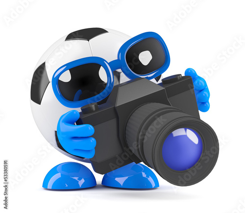 3d Football takes a picture