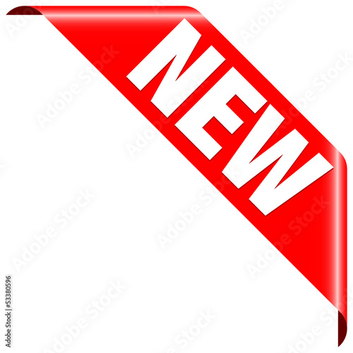 "Banner ""New"" Red"