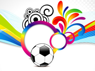 abstract colorful wave background with football