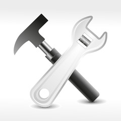 abstract detailed tool icon