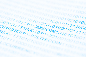IXCoin Text In Binary Code