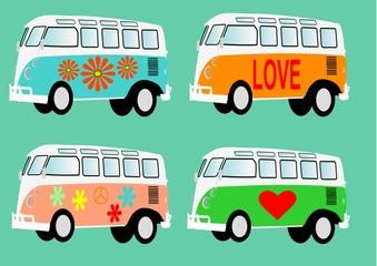 Hippie van volkswagen T1 camper vector