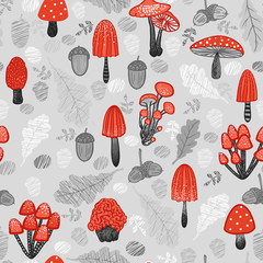 Mushroom background