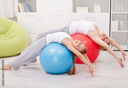 Stretching exercises at home