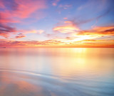 Long Exposure of soft and colorful sunset