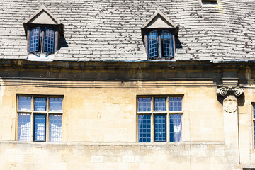 facade of house, Chipping Camden, Gloucestershire, England