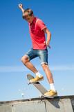jump on a skateboard