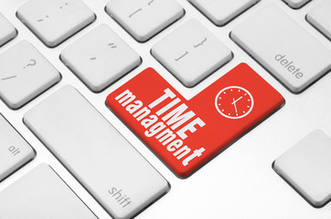 Time managment key on the computer keyboard