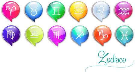 icone segni dello zodiaco