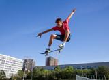 Fototapety jump on skateboard