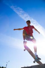 jump on skateboard
