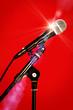 microphone bright light