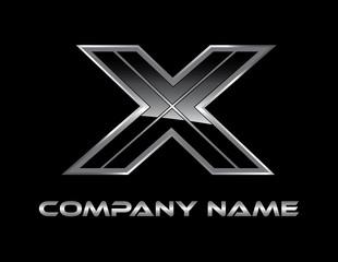 X silver logo