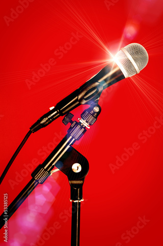 microphone bright light