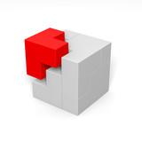 Modulares System: 3D-Illustration poster