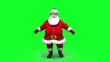 Santa getting fit against green screen loop.
