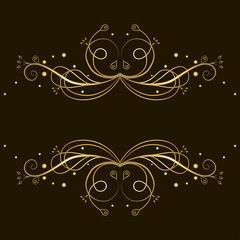 Decorative gold  tracery with place for text