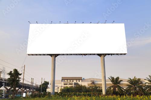 Blank outdoor billboard - 53385907